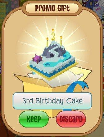 Animal Jam First Birthday Cake