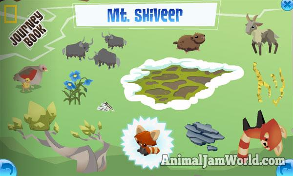 mt. shiveer journey book cheats - animal jam - animal jam world