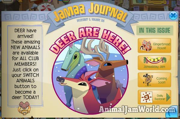 Image of: Play Wild Animaljamdeer Animal Jam World Jamaaliday Updates Deer Are Here Animal Jam World