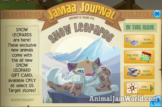 Image of: Amino Animal Jam Snow Leopard Codes Animal Jam World Animal Jam Snow Leopard Codes Animal Jam World