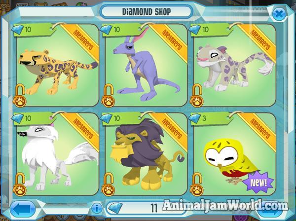 diamond-shop-animals